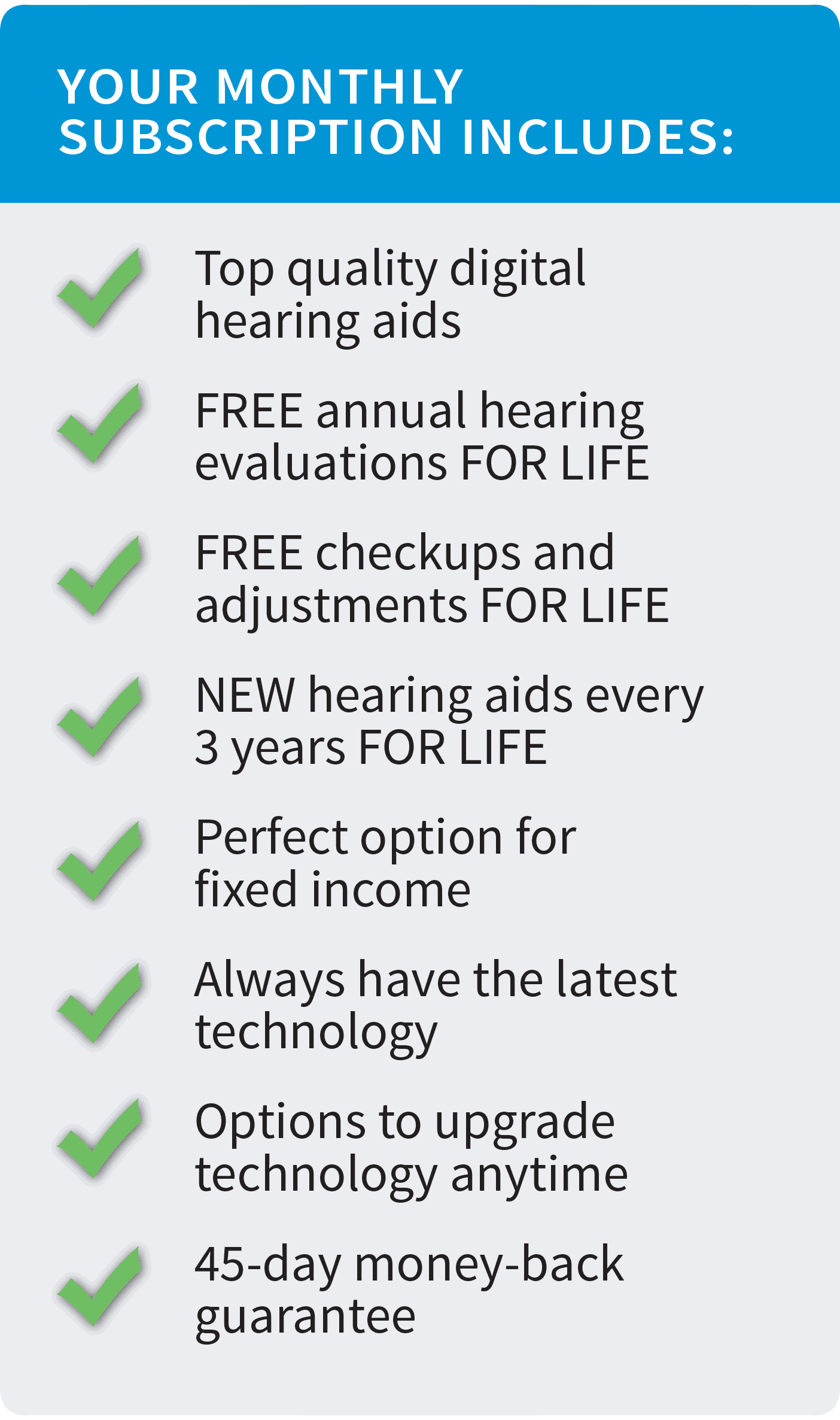 Lease your hearing aids