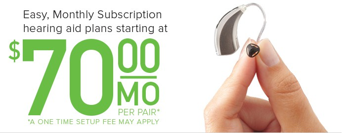 hearing aid lease subscription